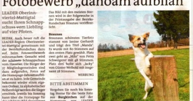 "Fotobewerb ""dahoam aufblian"" Siegerfoto Braunau"