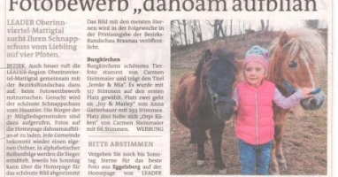 """Fotobewerb """"dahoam aufblian"""" Siegerfoto Burgkirchen"""