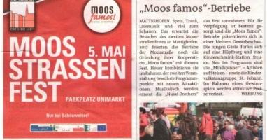 """Moosstraßenfest der """"Moos famos""""- Betriebe"""