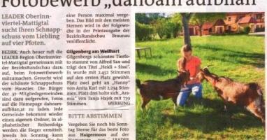 "Fotobewerb ""dahoam aufblian"" Siegerfoto Gilgenberg"