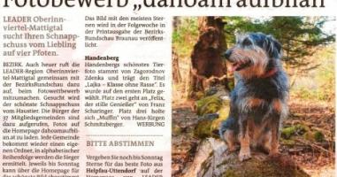 """Fotobewerb """"dahoam aufblian"""" Siegerfoto Handenberg"""