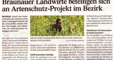 Braunauer Landwirte beteiligen sich an Artenschutz-Projekt im Bezirk
