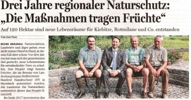 """Drei Jahre regionaler Naturschutz: """"Die Maßnahmen tragen Früchte"""""""