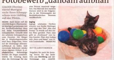 "Fotobewerb ""dahoam aufblian"" Siegerfoto Jeging"