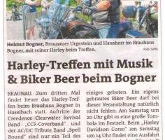 Harley-Treffen mit Musik & Biker Beer beim Bogner