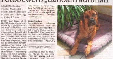 """Fotobewerb """"dahoam aufblian"""" Siegerfoto Mauerkirchen"""