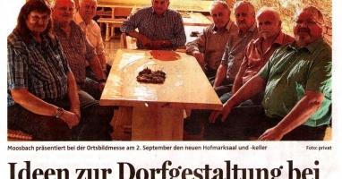 Ideen zur Dorfgestaltung bei Ortsbildmesse in Moosbach