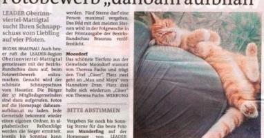 "Fotobewerb ""dahoam aufblian"" Siegerfoto Moosdorf"