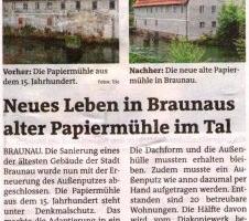 Neues Leben in Braunaus alter Papiermühle im Tal