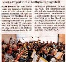 30 Musikkapellen geben gemeinsame CD heraus