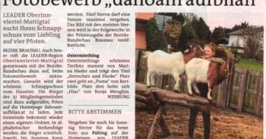 "Fotobewerb ""dahoam aufblian"" Siegerfoto Ostermiething"