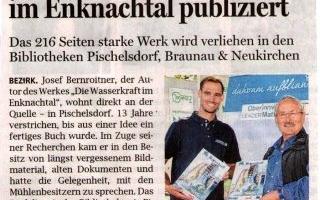 Buch über die Wasserkraft im Enknachtal publiziert