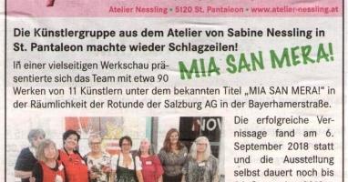 Künstlergruppe aus dem Atelier Nessling machte wieder Schlagzeilen!