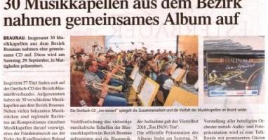 30 Musikkapellen aus dem Bezirk nahmen gemeinsames Album auf