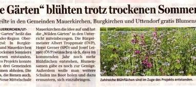 """""""Wilde Gärten"""" blühten trotz trockenen Sommer auf"""