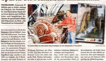 Pischelsdorfer begab sich auf die Spuren der Mühlen im Enknachtal