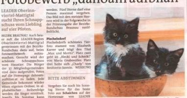 """Fotobewerb """"dahoam aufblian""""  Siegerfoto Pischelsdorf"""