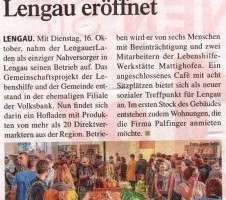 Nahversorger in Lengau eröffnet