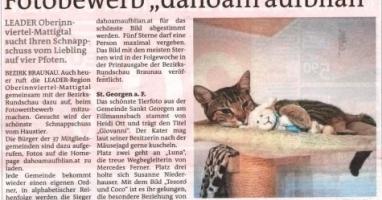 """Fotobewerb """"dahoam aufblian"""" Siegerfoto St.Georgen/F."""