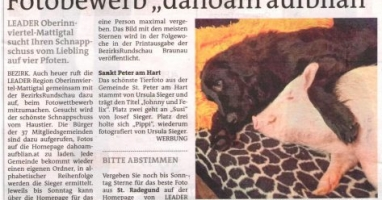 "Fotobewerb ""dahoam aufblian"" Siegerfoto St.Peter"