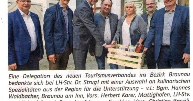 Tourismusfusion im Bezirk Braunau