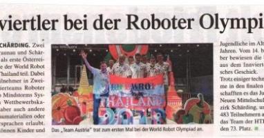 Innviertler bei der Roboter Olympiade