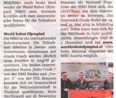 Lego spielen für Große: World Robot Olympiad