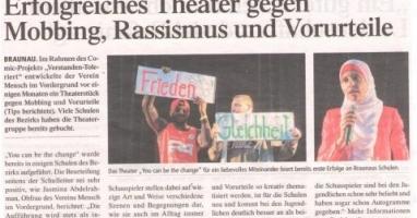 Erfolgreiches Theater gegen Mobbing, Rasismus und Vorurteile