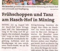 Frühschoppen und Tanz am Hasch-Hof in Mining