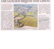 Die LEADER-Region von Oben!