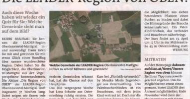 Die LEADER-Region von OBEN !