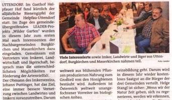 """""""Bienengipfel"""" in Uttendorf"""