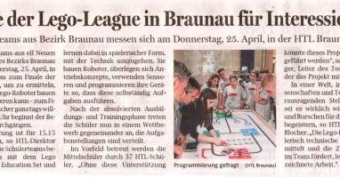 Finale der Lego-League in Braunau für Interessierte