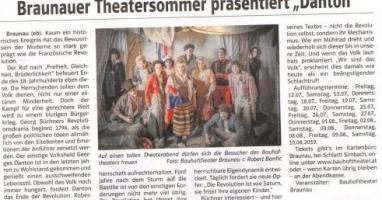 """Braunauer Theatersommer präsentiert """"Danton"""""""