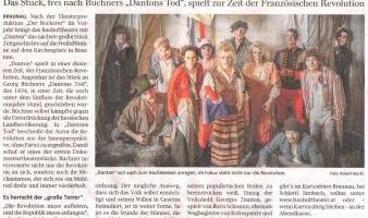 "Großes Theater in Braunau: Bauhoftheater präsentiert ""Danton"""