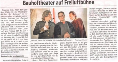 Bauhoftheater auf Freiluftbühne