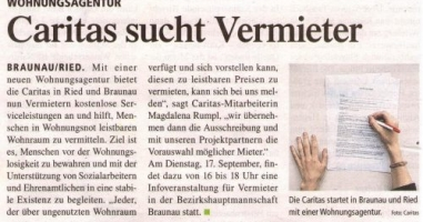 Caritas sucht Vermieter