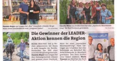 Die Gewinner der LEADER-Aktion kennen die Region