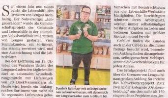 """Ein Jahr """"LengauerLaden"""""""