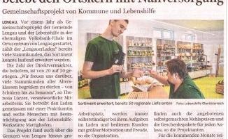 """Ein Jahr """"LengauerLaden"""": Lebenshilfe belebt den Ortskern mit Nahversorgung"""