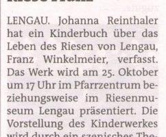 """Kinderbuch """"Der Riese Franz"""""""
