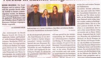 Die Stadt Braunau ist ein absulotes Vorbild in Sachen Integrationsarbeit