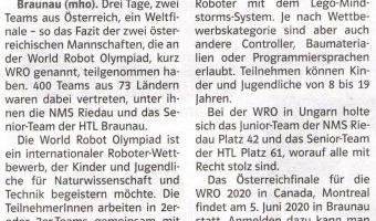 Mit Lego zur WEorld Robot-Olympiad