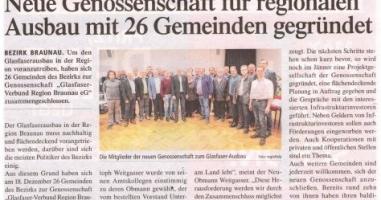 Neue Genossenschaft für regionalen Ausbau mit 26 Gemeinden gegründet