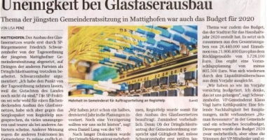 Uneinigkeit bei Glasfaserausbau