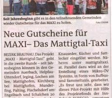 Neue Gutschein für MAXI-Das Mattigtal-Taxi
