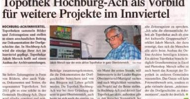 Topothek Hochburg-Ach als Vorbild für weitere Projekte im Innviertel