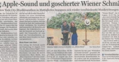 Big Apple-Sound und goscherter Wiener Schmäh