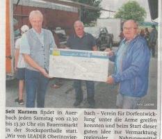 Unterstützung für Auerbacher Dorfmarkt