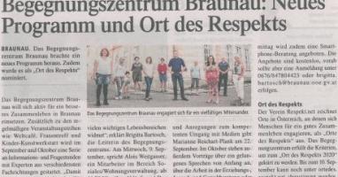 Begegnungszentrum Braunau: Neues Programm und Ort des Respekts